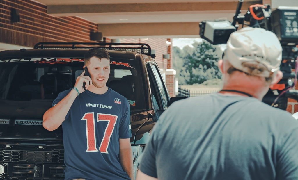 Videographer in Buffalo, NY Behind the scenes with Josh Allen